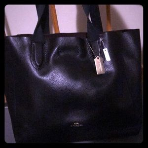 COACH Derby Tote soft beautiful black leather bag